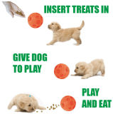 Smart Vinyl Football Dog Treat Ball