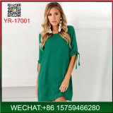 Hot Selling American Style Woman Casual Half Sleeve Dress