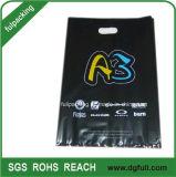 Black Plastic Die Cut Handle Shopping Bag Customized Promotional Handbags Gift Bag