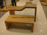 High/Low Bamboo Surface Promotional Table for Shoes/Garment