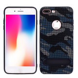 Camouflage Fabric Paste Skin Phone Case for iPhone X
