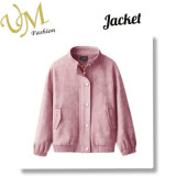 Custom Winter Outdoor Coat Suede Lether PU Jacket for Girls
