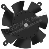 Small Compact 120mm Framless Black Plastic Blades Air Cooler