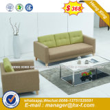 2 Seats White Color Living Room Leather Sofa (HX-8NR2271)