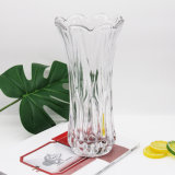 New Cheap Home Decoration Flower Table Top Clear Glass Vase