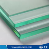 10, 12, 15, 19mm Transparent/Colored Tempered Glass, Toughened Glass for Building Glass