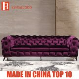 Top Purple Velvet Chesterfield Style Sofa Designs Furniture Stores for Drawing Room