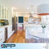 Modern Design White Vertical Wood Grains Melamine Kitchen Cabinet BMK-69