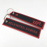 Promotional Customized Name Embroidery Patch Fabric Tag Key Chain