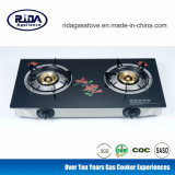 Tempered Glass Copper Cap Set Two Burner Gas Stove