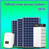 5kw Hybrid Home Solar Power System Solar Energy AC Lithium Battery