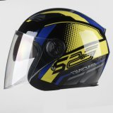 Light-Weighted 3/4 Open Face Motorcycle Helmet Double Visors Good Ventilated