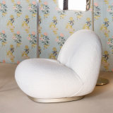 Modern Teddy Pile Fabric Leisure Fluffy Living Room Furniture Lazy Sofa Lounge Bean Bag Chair