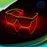 LED Light up EL Wire Glowing Dark Glasses Party Rave Flashing Sunglasses