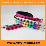 Fashion Checker Print PU Belt
