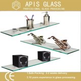 10mm Clear / Frosted Tempered Shelf Glass Shelf for Showeroom / Wall Corner