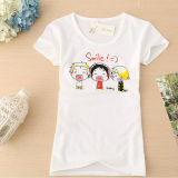 Custom Cotton Short Sleeve Women T-Shirt