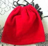 Red Customized Simplicity Cotton Drawstring Bag