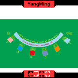 Customize Waterproof Blackjack Casino Poker Table Layout 7 Player for Mini Table with Green Color (YM-QT1G-1)