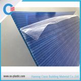Blue Twin Wall Polycarbonate Hollow Sheet 6mm Thickness