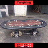 Oval Disk Feet 2 Generation Upgrade Texas Poker Table 10 Seat Poker Table with Dealer Position Ym-Tb017