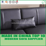 Modern Living Room Furniture Set Leather Sectional Wooden Sofa