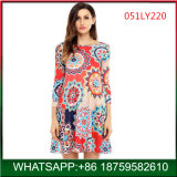 Wholesale Bohemian Sunflower Printing Woman Dress China