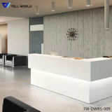 White Counter Top Straight Shape Reception Table