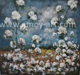 American Farm Art Cotton Field Oil Paintings for Home Decoration