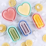 Heart Pattern DIY Silicone Ice Cream Mold/ Popsicle Mould