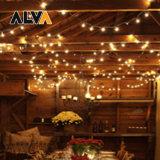 LED Outdoor Decoration String Lighting 25FT 48FT Christmas Lights Fairy Festival Holiday Light with E27 E26 E12 S14 G40 Bulb for Wedding Party Garden