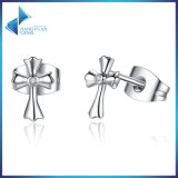 100% 925 Sterling Silver Classic Symbol of Faith Cross Stud Earrings
