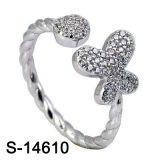Fashion Jewelry Sterling Silver Butterfly Wings CZ Ring