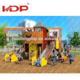 2017 New Hot Product Woode Slide, Children Outdoor Playground Kids Wood Slide