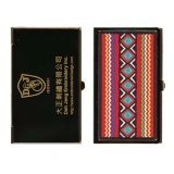 Embroidered Business Card Case - Gold Plated - Taiwanese Aboriginal Art
