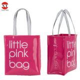 298b2a89cd78 Vinyl PVC Shopping Tote Bag Opaque Transparent Handle Bag 2018 Fashion  Kraft PVC Bag