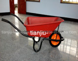 South Africa Market Plastic Tray Wheelbarrow (Wb3800)
