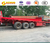 Used Semi Trailer 3 Fuwa Axles 20FT/ 40FT Container Extendable Flat Bed Tractor Truck Container Trailer