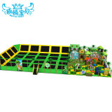 Commercial Children Big Trampline with Soft Play Playground Equipment