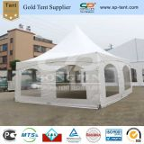 20X20FT High Peak Canopy Tension Tent with Special Shapes Windows