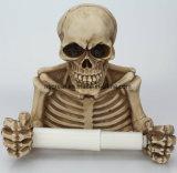 Skeleton Skull Toilet Paper Tp Tissue Holder Halloween Decor