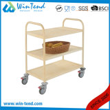 Hotel Supplier Stainless Steel Wooden Serving Trolley for Kitchen