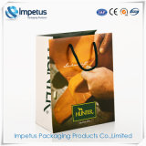 Wholesale Price Eco-Friendly Carrier Art Paper Bag Laminated Gift Packaging Used Custom Shopping Colored Paper Bag