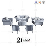 Modern Living Room Leisure Chesterfield Fabric Sofa Set