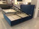 Modern Upholstered Fabric Velet Gaslift Storage Bedroom Bed