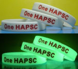 Wholesale Logo Printed Debossed Glow in Dark Silicone Bracelet
