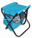 Collapsible Stool with Cooler Foldable Chair with Cooler