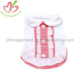 Cotton Blouse Style Small Dog Clothes with Ruffles for Pets