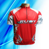 100% Polyester Man's Short Sleeve Cycling Jersey