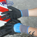 Nmsafty Doubly Dipped Sandy Nitrile Oil & Water Proof Work Gloves